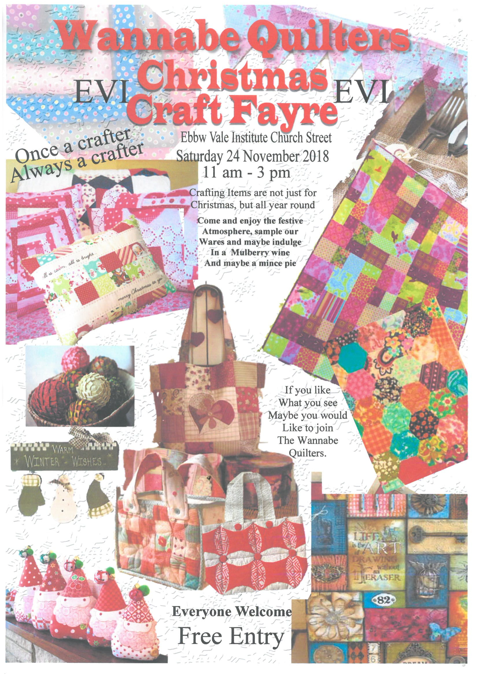 Wannabe Quilters Christmas Fayre EVI