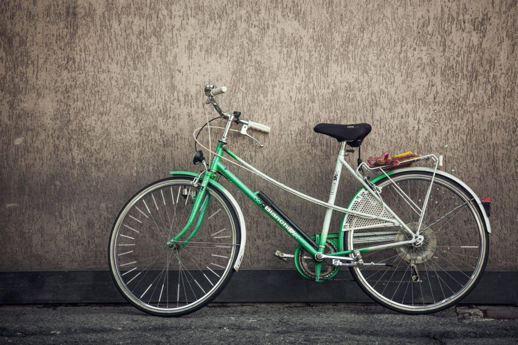 bicycle for sustainable article