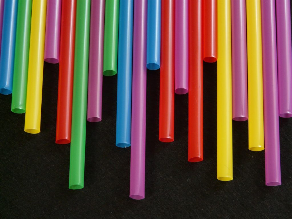 Plastic straws for sustainable article