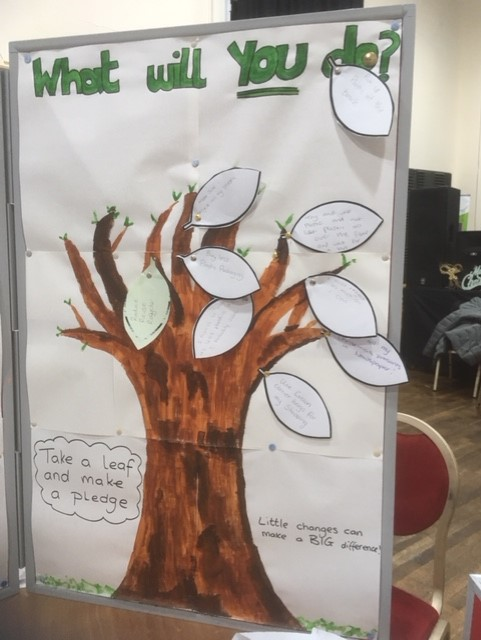 Llamau's pledge tree at Landfill Christmas celebration event